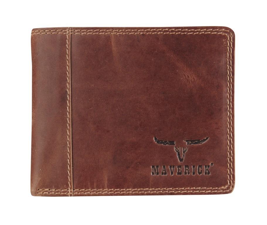 Maverick Dalian II Compact Billfold RFID Donker Bruin
