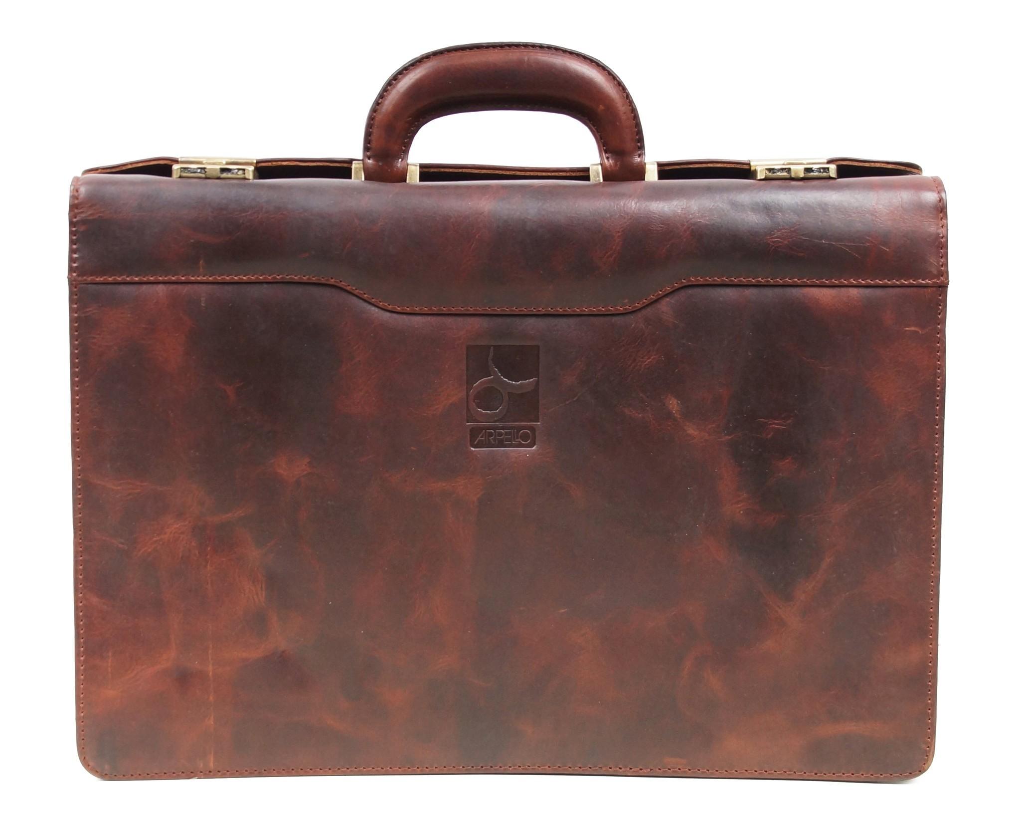 Arpello Old School Business Bag 6.1756 Brandy
