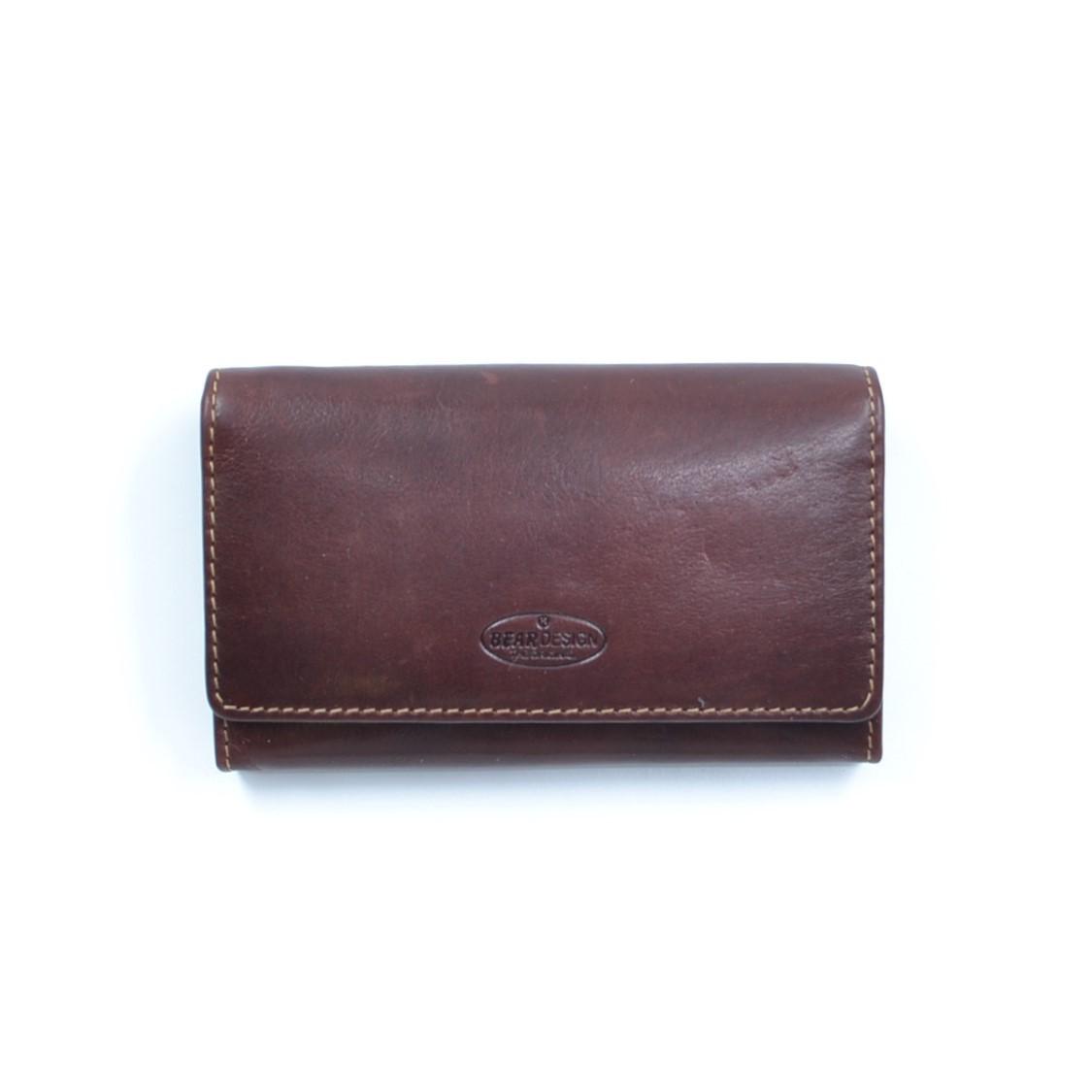 Bear Design Dames Knip Portemonnee RO9925 Bruin
