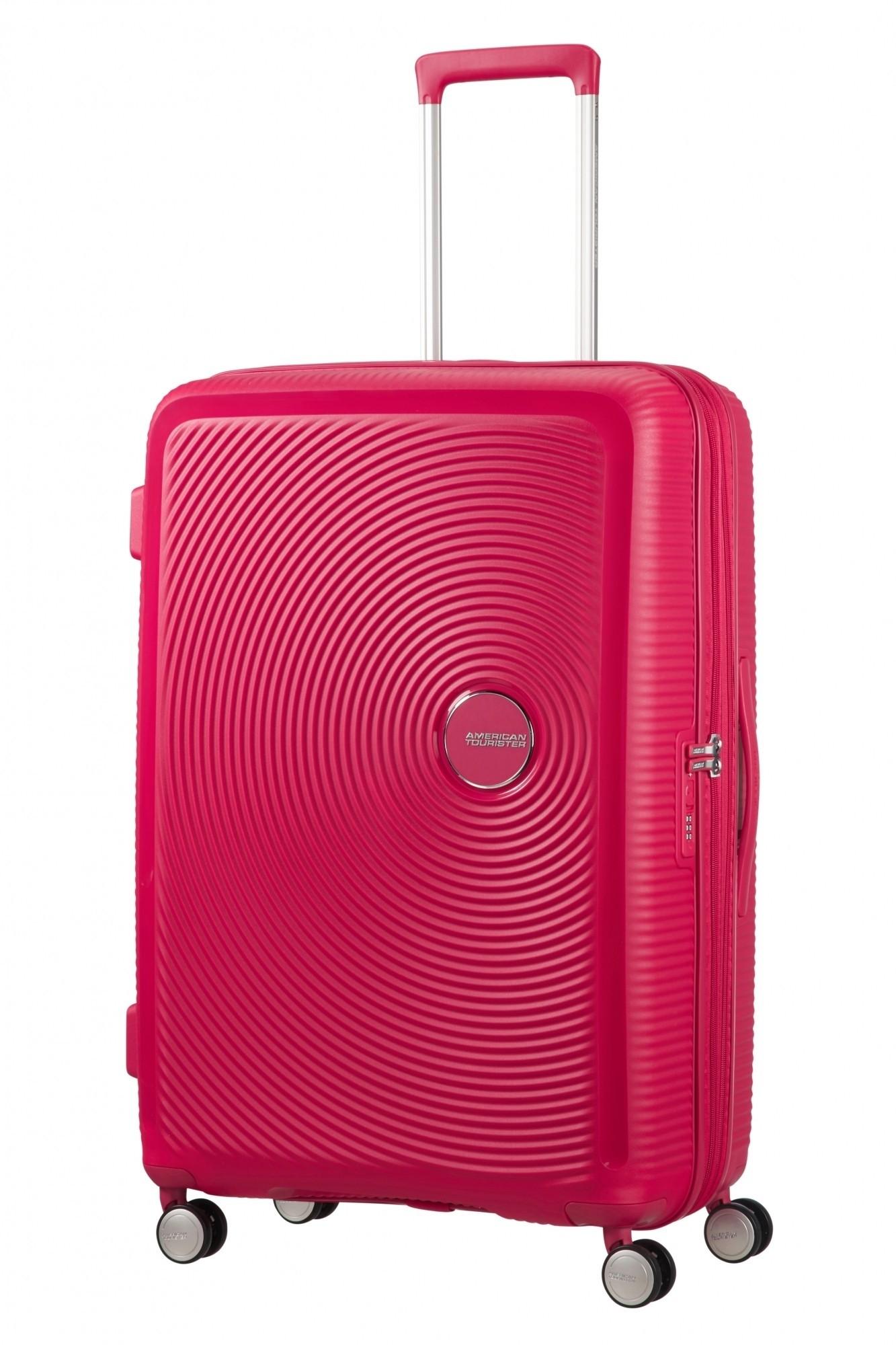 American Tourister Soundbox Spinner 77/28 TSA Exp. Lightning Pink