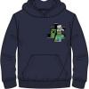 Afbeelding van Minecraft sweater - hoodie - blauw - maat 152