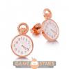 Afbeelding van Disney Alice in Wonderland Clock Stud Earrings (Rose Gold)