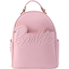 Afbeelding van Loungefly Barbie Logo Rose Gold Chain Convertible Mini Backpack