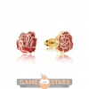 Afbeelding van Disney Princess Beauty and the Beast Enchanted Rose Earring Set (Yellow Gold)