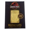 Afbeelding van Jurassic Park Card Metal Entrance Gates (gold plated)