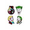 Afbeelding van DC Comics pack 4 pin's Joker & Harley Quinn