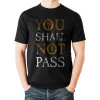 Afbeelding van LORD OF THE RINGS - YOU SHALL NOT PASS TEXT T-Shirt BLACK