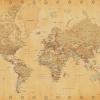 Afbeelding van World Map Vintage Style Poster