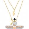 Afbeelding van Disney Alice in Wonderland Potion Bottle Necklace (Yellow & White Gold)
