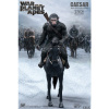 Afbeelding van War for the Planet of the Apes: Caesar with Rifle on Horse Statue