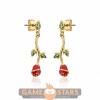 Afbeelding van Disney Beauty and the Beast Rose Drop Earrings (Yellow Gold)