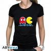 Afbeelding van PAC-MAN - Tshirt Game Over woman black