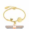 Afbeelding van Disney Beauty and the Beast Rose Bracelet (Yellow Gold)