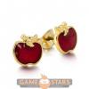 Afbeelding van Disney Snow White Apple Stud Earrings