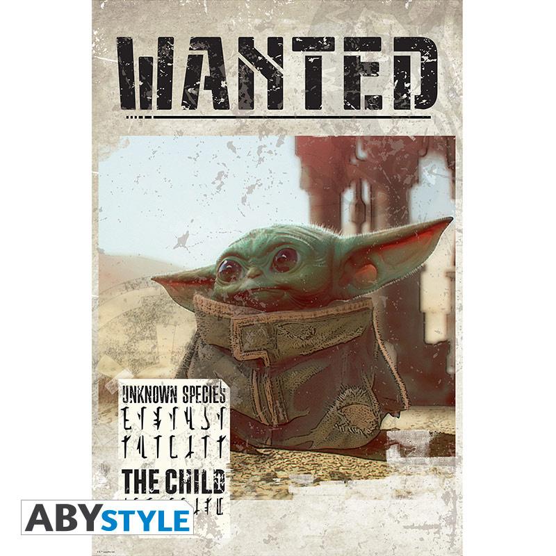 "THE MANDALORIAN - Poster ""Baby Yoda Wanted"" (91.5x61 ..."