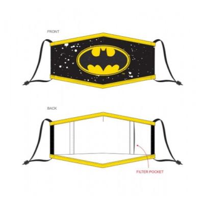 DC Comics: Batman Yellow Logo Adjustable Face Mask