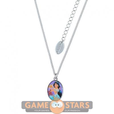 Kids Disney Aladdin Princess Jasmine Necklace (White Gold)