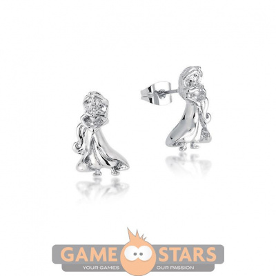 Disney Aladdin Princess Jasmine Stud Earrings (White Gold)