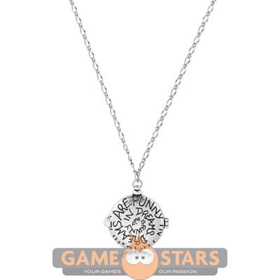 Disney Alice in Wonderland Clock Necklace (White Gold)