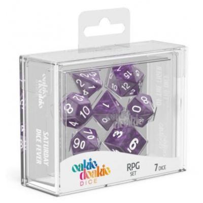 Oakie Doakie Dice RPG Set Marble - Purple