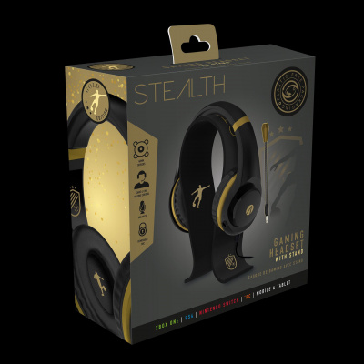 Stealth Gaming Headset & Stand Bundle Gold Edition (Black) for Xbox One, PS4, PC