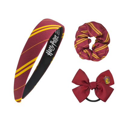 Harry Potter: Gryffindor Classic Headband Scrunchy Bow Set