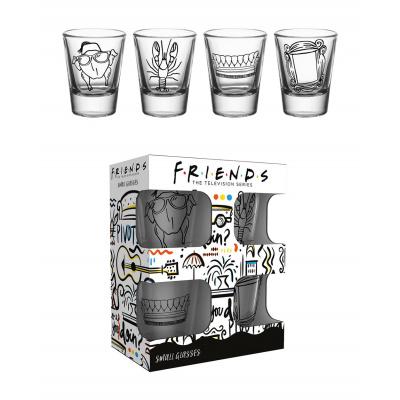 Friends: Doodle Shot Glasses