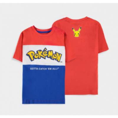 Pokémon - Core Logo Cut & Sew - Boys Short Sleeved T-shirt 134-140