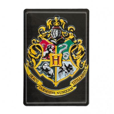 HARRY POTTER 3D TIN SIGN HOGWARTS 20 X 30 CM