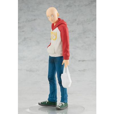 One Punch Man PVC Pop Up Parade Saitama Oppai Hoodie Ver. 17 cm