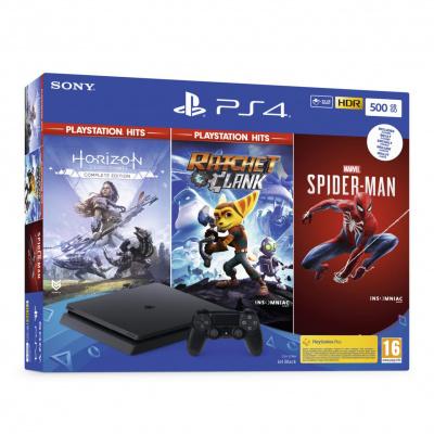 Playstation 4 500GB Black + Playstation Hits Bundle V3