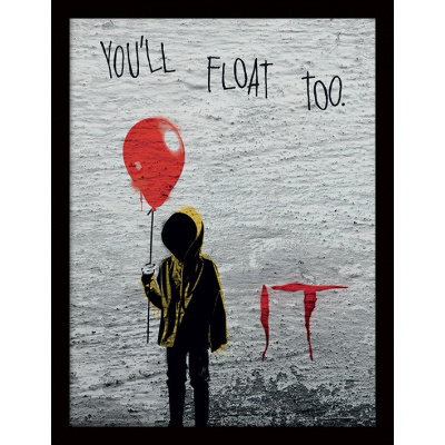 IT: Georgie Graffiti 30 x 40 cm Framed Print