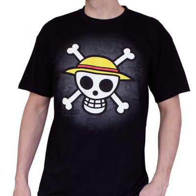 ONE PIECE - T-Shirt Basic Men Skull With Map (XL)