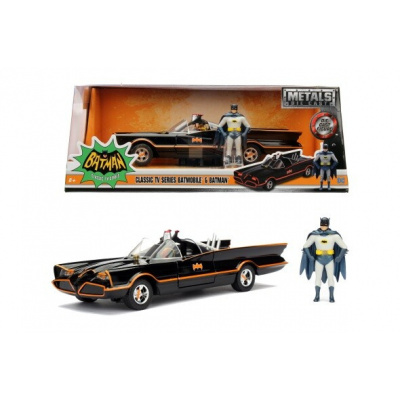 DC Comics: Batman 1966 - Classic Batmobile and Batman 1:24 Scale Set