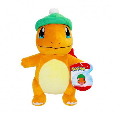 Pokémon présentoir peluches 20 cm Christmas Edition charmander