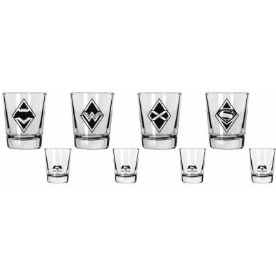 DC Comics: Batman Vs Superman 4 Mini Glasses Set