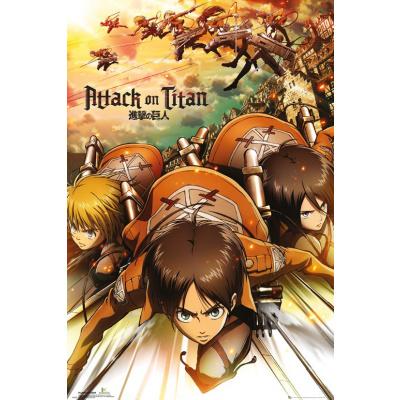Attack on Titan: Attack 91 x 61 cm Poster