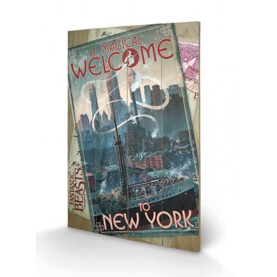 Fantastic Beasts - Wood Print 40X59 - New York