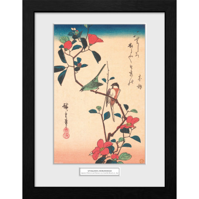 Hiroshige: Japanese White-Eye and Titmouse 30 x 40 cm Collector Print