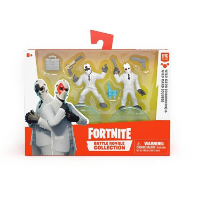 Fortnite Battle Royale Collection Action Figure 2pk - Wild Card (Diamonds) & Wild Card (Clubs)