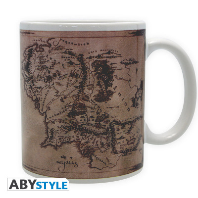 LORD OF THE RINGS - Mug - 320 ml - Map - subli - with boxx2