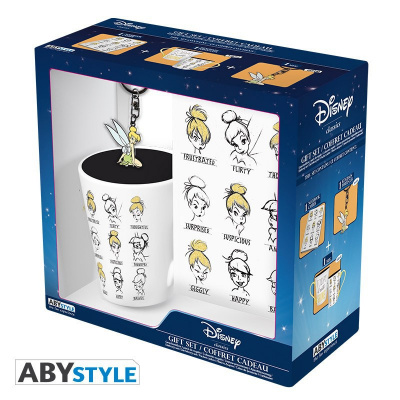 DISNEY - PACK MUG + KEYRING + NOTEBOOK - TINKERBELL