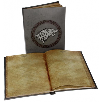 Game of Thrones: Stark Notebook with Light