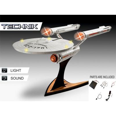 Star Trek: USS Enterprise NCC-1701 Electronic 1:600 Scale Model Kit