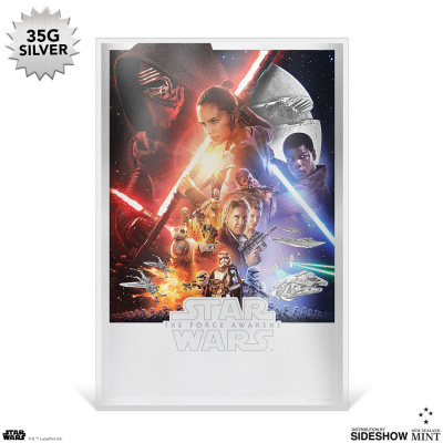 Star Wars: The Force Awakens Silver Foil Framed Print