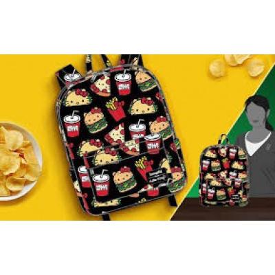 Loungefly Hello Kitty Sanrio Snacks Pizza Burger Fries Taco Backpack
