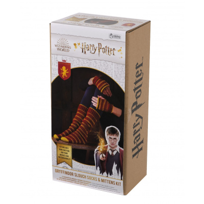 Harry Potter: Gryffindor Slouch Socks and Mittens Knit Kit