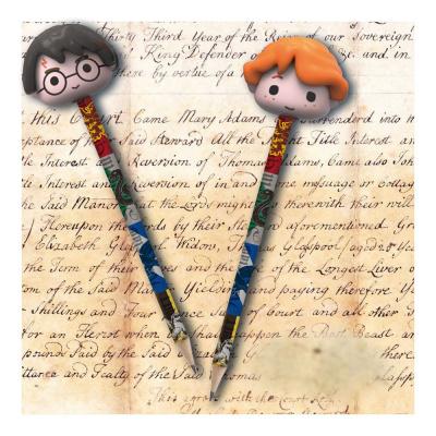 Harry Potter Pencils with Eraser Topper 2-Packs Case