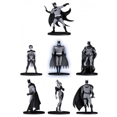 DC Comics: Batman Black and White Mini PVC Figure 7-Pack Set 2