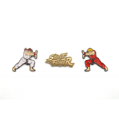 Street Fighter: Ken, Ryu and Logo Pin Collector Set
